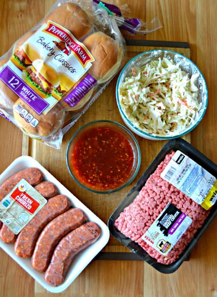 Ingredients for Chorizo and Beef Burgers