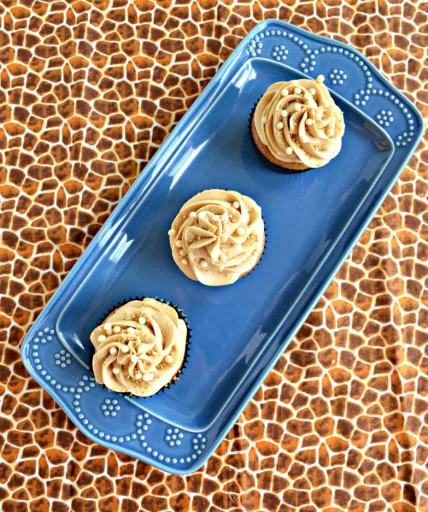 A plate of Coffee Cupcakes