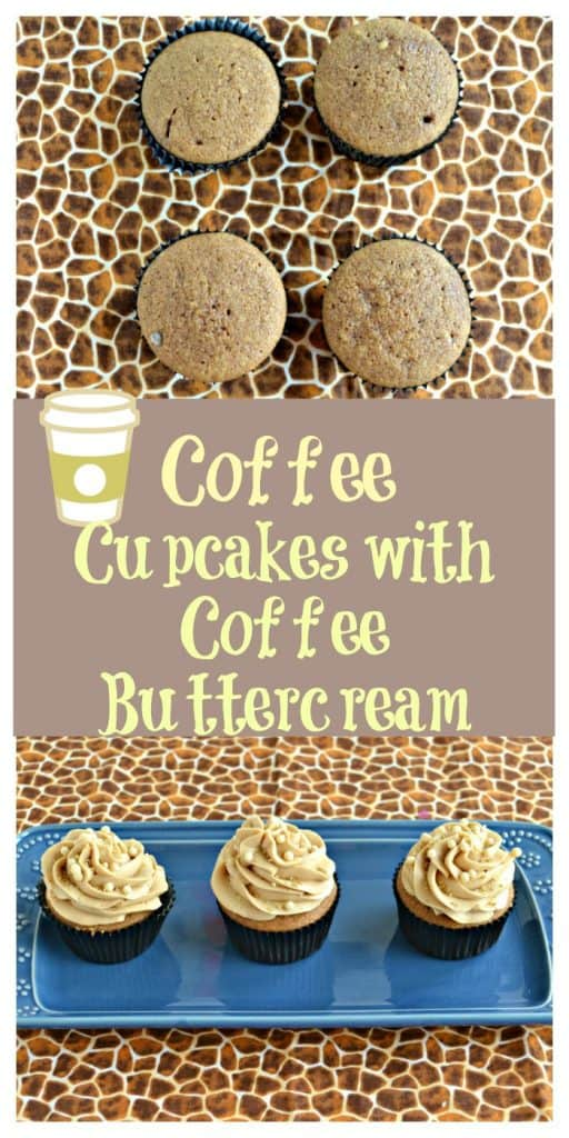 Pinterest Image for Coffee Cupcakes with Coffee Buttercream