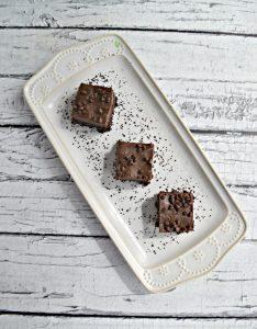 Frosted Mocha Brownies on a platter