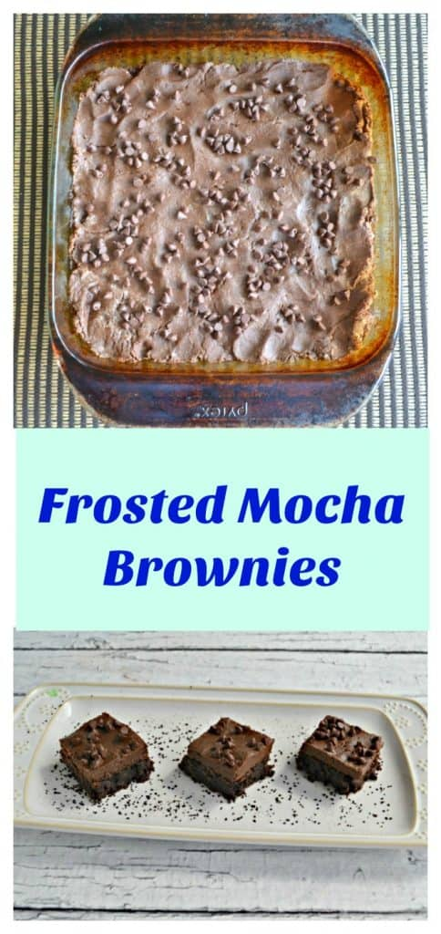 Pinterest Image- Frosted Mocha Brownies with text overlay