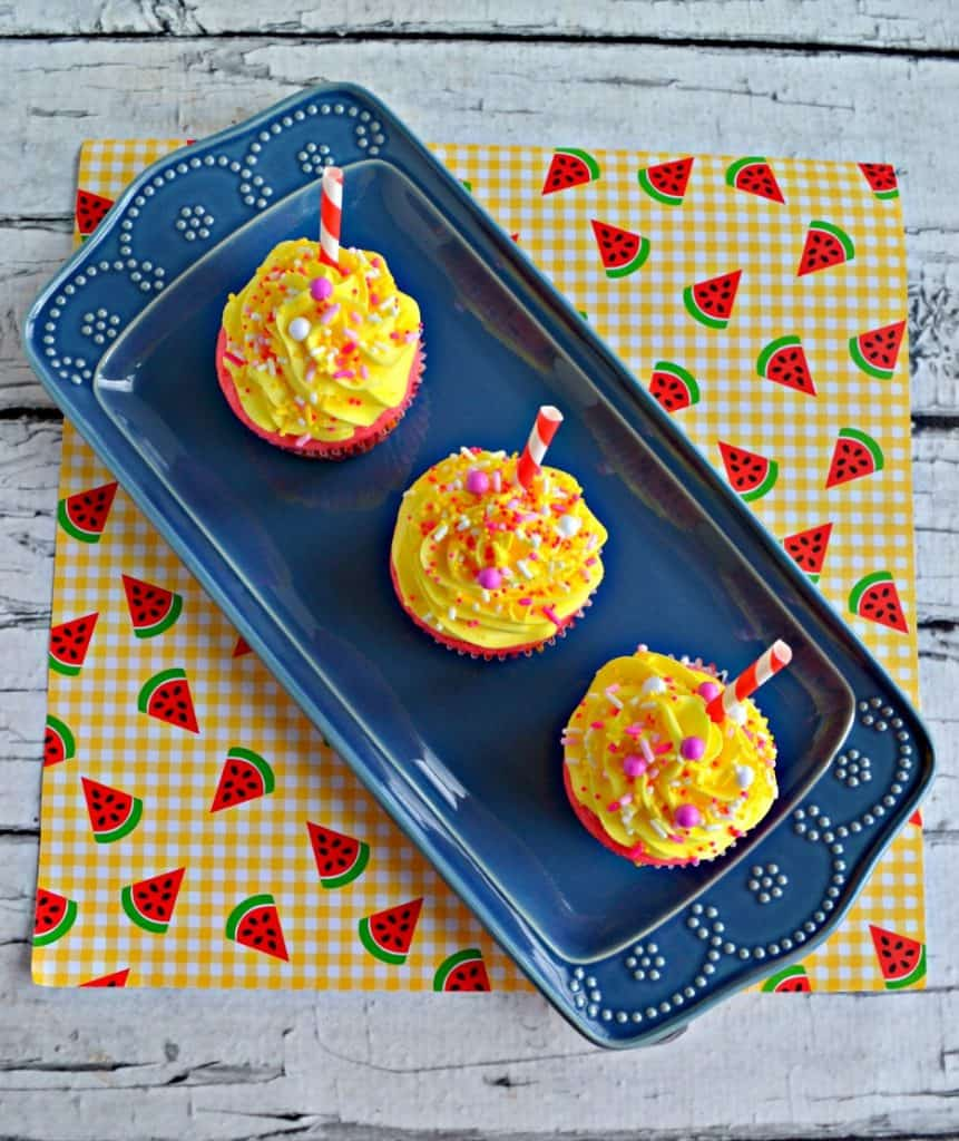 Pink Lemonade Cupcakes with Sprinkles