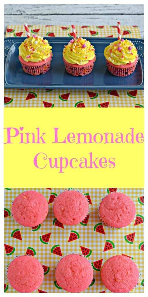Pink Lemonade Cupcakes Pin Image