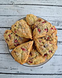 A plate of strawberry scones