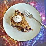 Cherry Rhubarb Pie with Crumble Topping
