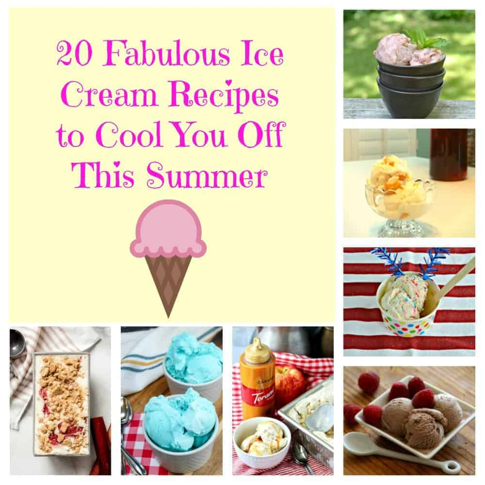 Pin Image: Text Overlay with 7 bowls of ice cream surrounding it.