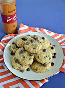 Salted Caramel Swirl Chocolate Chip Cookies