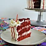 Bloody Glass Shard Red Velvet Cake #HalloweenTreatsWeek