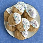 White Chocolate Dipped Ginger Molasses Cookies