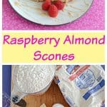 Raspberry Almond Scones with Coffee Glaze #SpringSweetsWeek