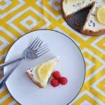 Instant Pot Lemon Lavender Cheesecake #SpringSweetsWeek