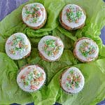 Carrot Cake Cupcakes with Orange Cream Cheese Frosting #SpringSweetsWeek