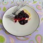 Instant Pot Vanilla Bean Cheesecake with Blueberry Compote