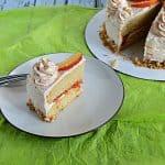 Brown Sugar Cake with Peach Jam Filling #SummerDessertWeek